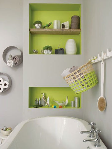 Add colour to the inside of your storage space.
