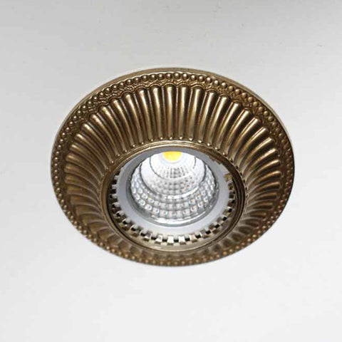 Vintage style downlight in ceiling