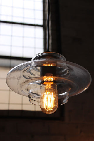 pressed ceiling glass light