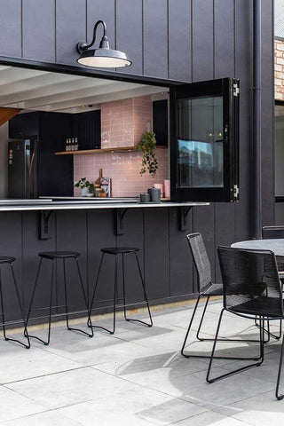 IP rated lighting for kitchen and outdoor dining