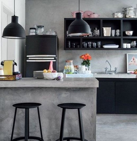 Concrete for your kitchen Why not This minimalist design is a no-fuss, no-frill option for the homeowner who likes things basic