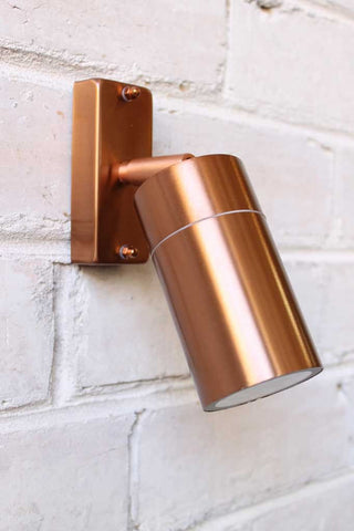 Copper-LED-Spotlight.-Outdoor-wall-light-includes-LED-globe