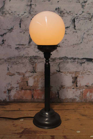 French Industrial Candlestick Table Lamp