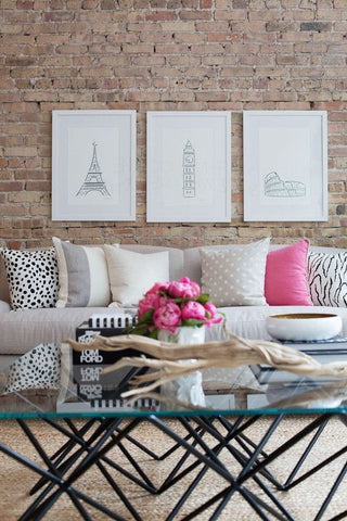 Hints of Pink. Add colour to any plain living area.