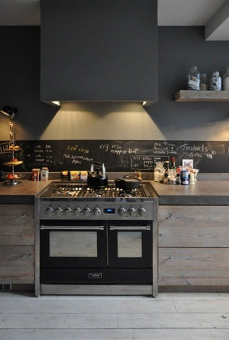 "If you are looking for a simple and practical way to ""industrialise"" your cooking space, go with concrete."