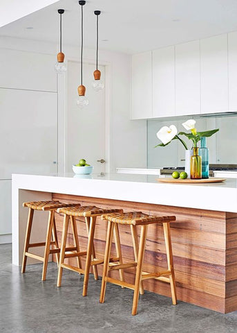 Wooden Kitchen Island Bench