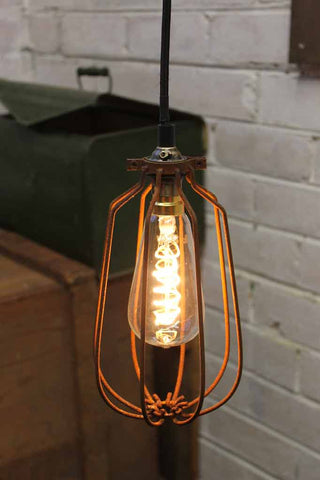 LED Bulb, LED Soft Filament Bulb - Spiral. Dimmable led bulb. lighting Melbourne. Soft LED filament. LED light bulbs for cage penant lighting, table lamps, ceiling lights, hanging lights