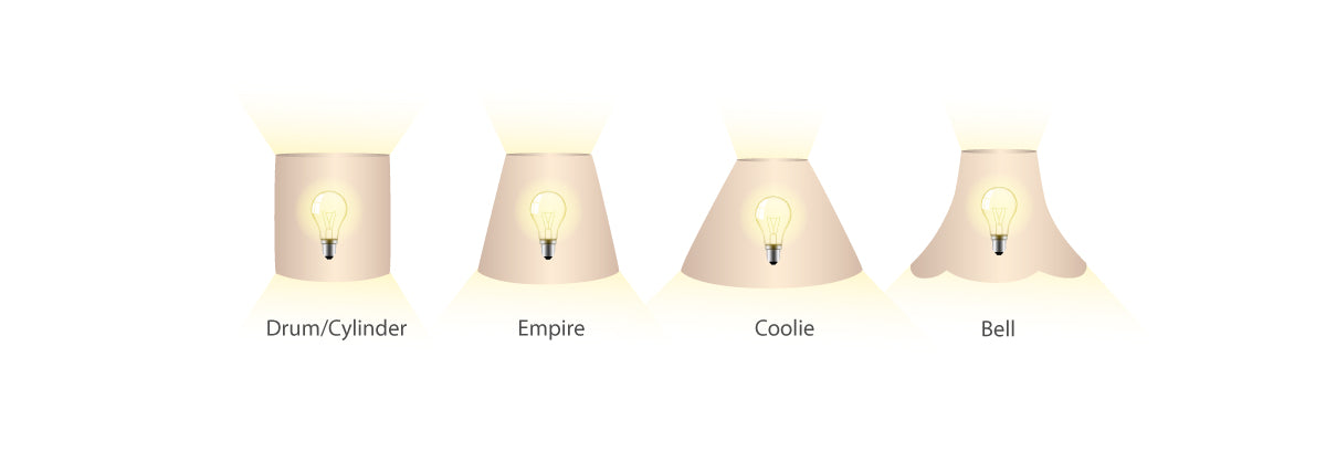 Lamp shade styles and light distribution