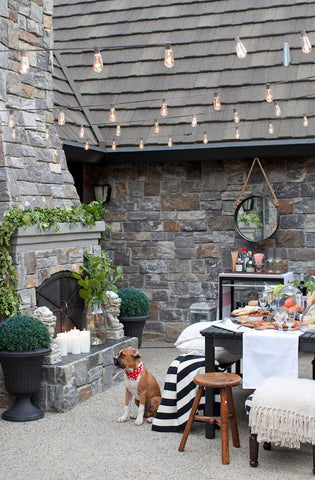 Light up your patio with a long strand of festoon lights to brighten up your space as you lounge outdoors. The soft, radiant glow from these bulbs create a dazzling effect for your home, especially during family gatherings, or even holidays.
