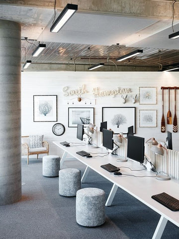 Linear lighting is a great way to add a soft light effect to your office