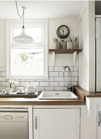 Subway tiles add the touch of eclectic quirkiness in a kitchen