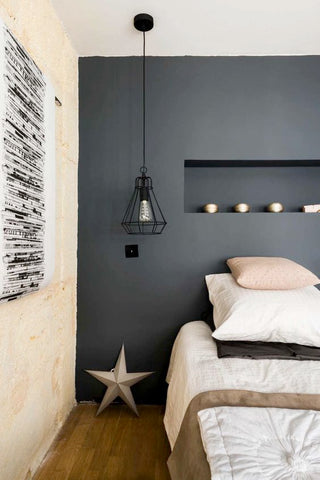 Vintage industrial interior design blog homes tips Industrial scandinavian bedroom