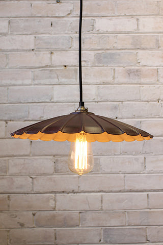 vintage umbrella pendant light