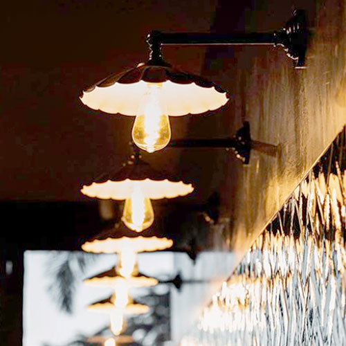 Vintage Umbrella Wall lights in Resturant