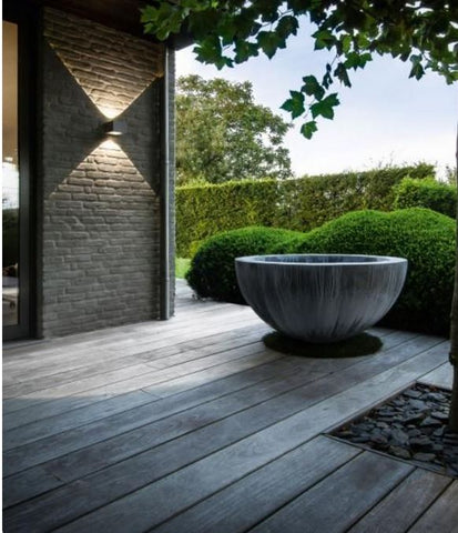 accessorising an outdoor space is almost the same as indoors, even with lighting. Thoughtful outdoor lighting offers a nice visual treat,
