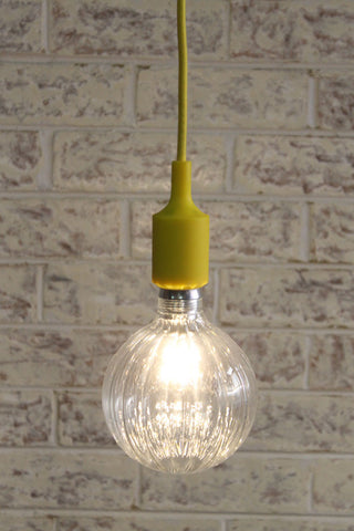 yellow pendant light cord