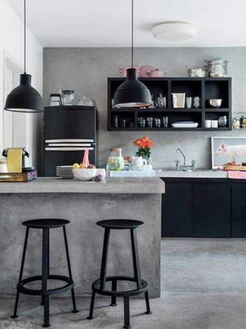 an industrial kitchen