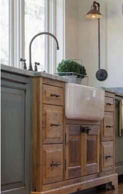 butler sink. This type of sink is widely used in may farmhouse kitchen.