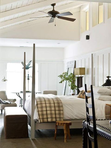 ceiling fans in the bedroom, suits all decor even countryside backdrop