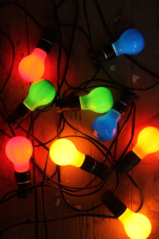 coloured led light bulbs for festoon string lighting