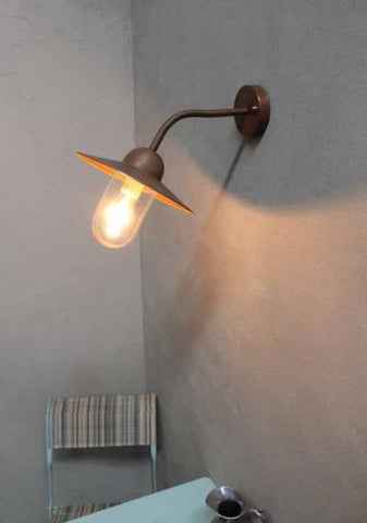copper wall light ideal for coastal living, beach homes or seaside living