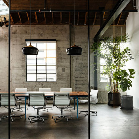 The Concrete Floor Of This Meeting Room Has Been Polished, Giving It An  Industrial But Refined Look. The Nordic Pendant Lights Are Real  Eye Catchers And ...