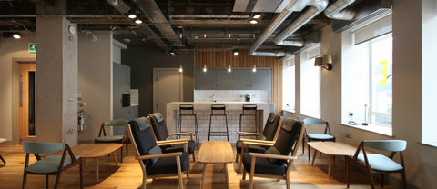 industrial look office interior design. Concrete Is Present Throughout This Entire Office As An Unmistakable Nod To The Building\u0027s Industrial Past. However, Everything From Columns Look Interior Design R