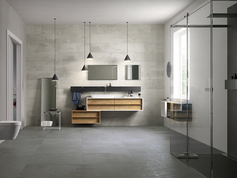 industrial concrete bathroom