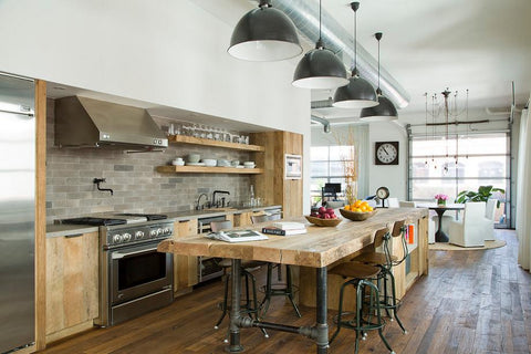 Inspiring Kitchen Islands Ideas With Industrial Pendant
