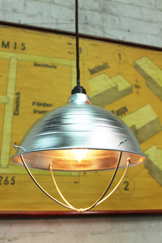 industrial crossbar guard pendant light large