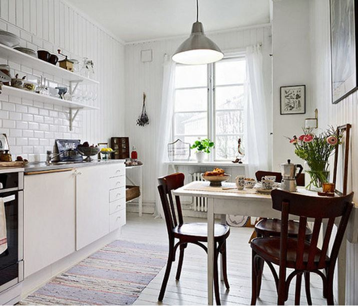 vintage style furniture infused into a modern kitchens