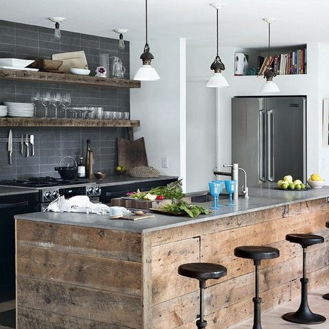 kitchen - using old, reclaimed materials and recreate your space with a remarkably industrial setting.