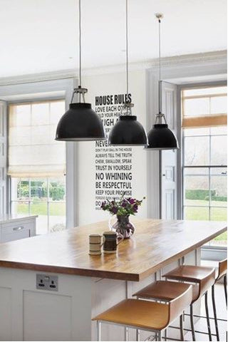 lighting ideas for your kitchen space image via Houseandgarden