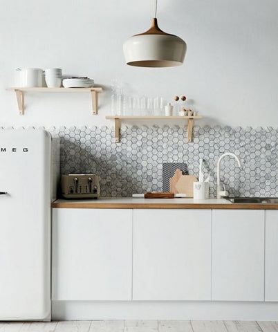 nordic pendant light in kitchen looks good image via remodelista