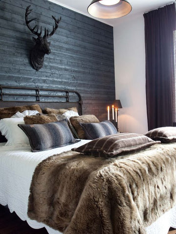 Rustic decor Make your interiors look cosy by choosing fabrics with warm, genteel feel.