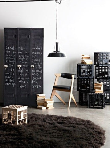 the crates offer a nice industrial touch and the pendant light puts the nostalgia & Scandinavian \u0026 Industrial Design: A Match Made in Heaven | Fat Shack ...