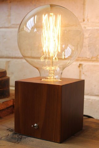 vintage box table lamp
