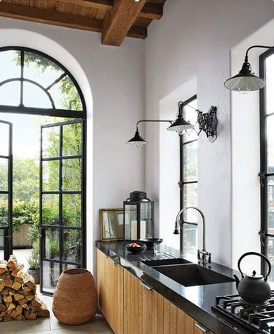 warehouse wall lights great kitchen lighting in your kitchen image via Architectural Digest