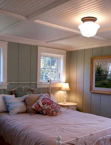 your flush mount lights needs to harmonizes with your interior's decor, in this case vintage cottage