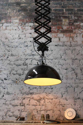 The Large Industrial Scissor Light is perfect for kitchens as it can be lowered for the completion of specific tasks such as cutting. & home decor | Vintage Industrial Interior Design and Lighting ideas ...