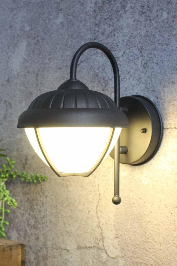 Californian bungalow style wall light with shepherds hook wall sconce