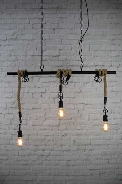 1 rope swing pendant exposed bulb industrial vintage lighting