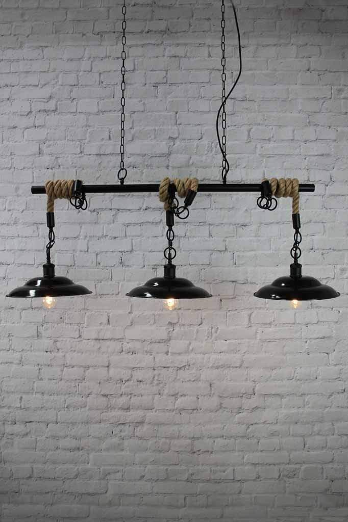 10 high pendant trio lighting chain cord rope suspension vintage lighting