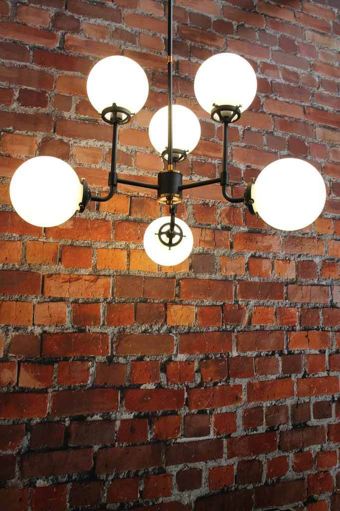 1920s style glass ball pendant light. opal vintage shades. buy vintage lighting online