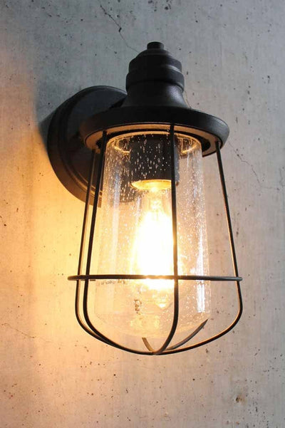 Vintage cage wall light