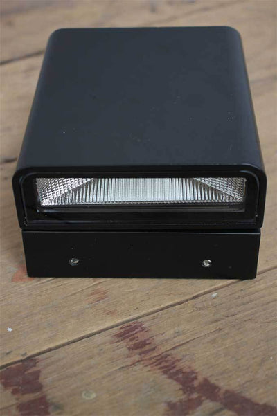 2. collapsed view of the knight led outdoor wall light with rounded black metalware