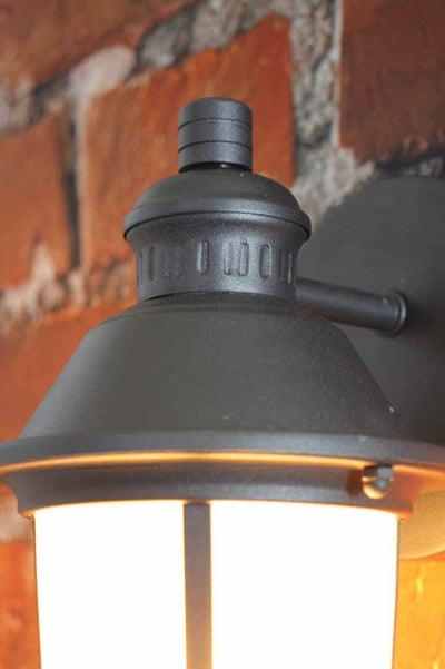 Lantern style wall light perfect for pathways wineries cottages gardens
