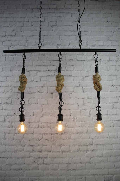 4 rustic modern farmhouse pendant lighting chain suspension braided cord rope
