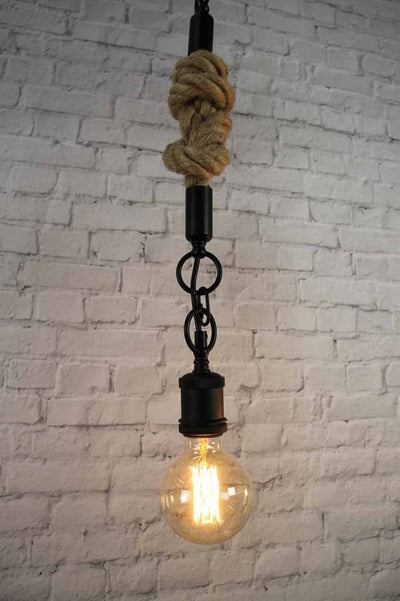 5 single pendant trio industrial vintage rustic charm exposed bulb black contrast rope