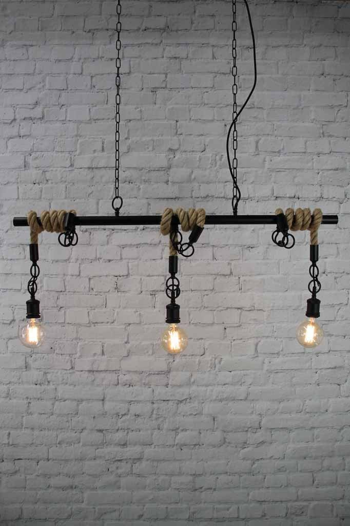 Rope Swing Pendant Light Industrial Modern Lighting Fat Shack Vintage